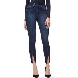 Good American good legs skinny slit crop jeans